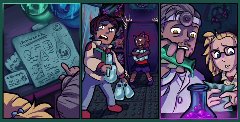 """[ALL] Immagini """"Laboratorio infetto"""" per Habbo Halloween 2018 Comic-6"""